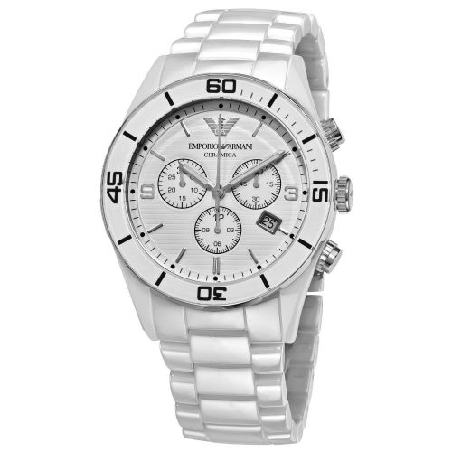 Emporio ARMANI Ceramica White Ceramic Chronograph Watch AR1424